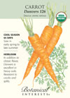 Carrot Danvers 126 Organic HEIRLOOM Seeds
