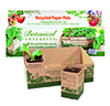 Recycled Paper Pots 1 ½ inch (12 pack) and tray